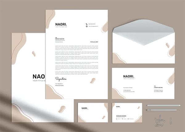 Simple Branding Identity Stationery Pack