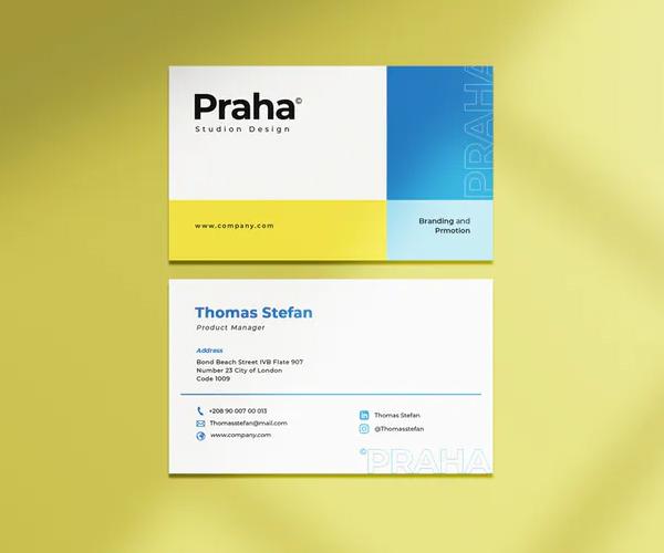 Praha Business Card Template