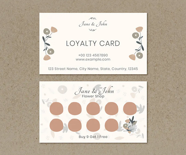 Floral Loyalty Business Card Design
