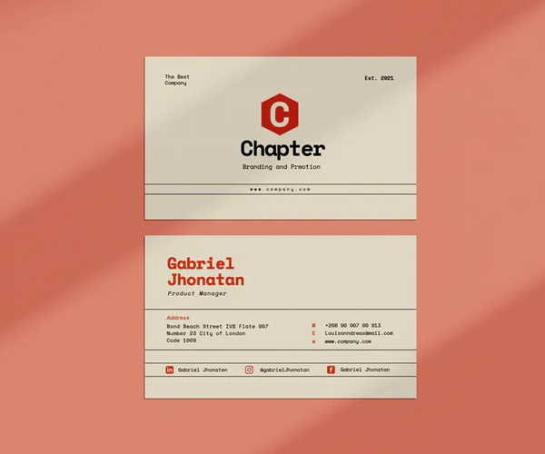 Chapter Business Card