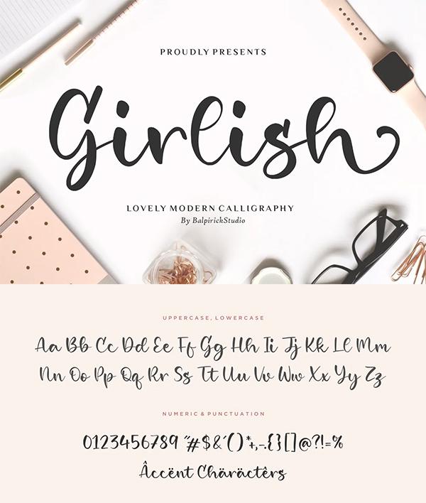 Girlish Brush Font