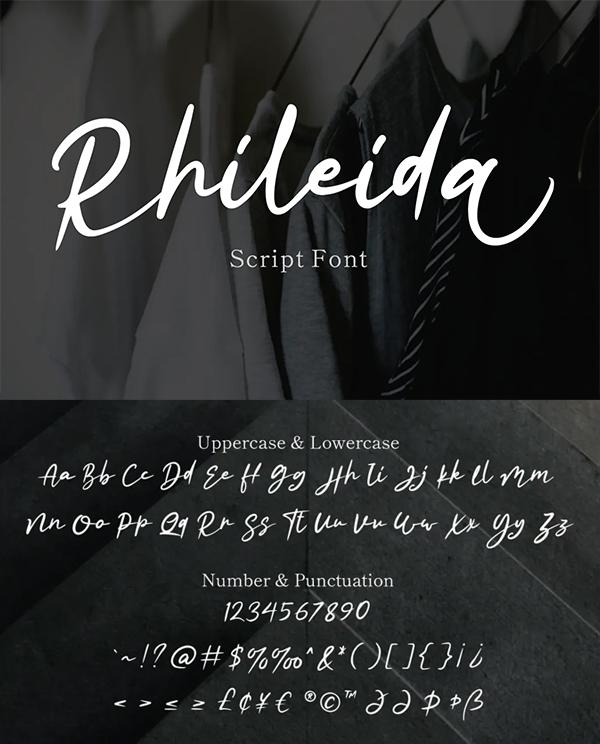 Rhileida Script Font