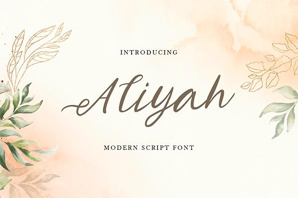 Aliyah Modern Script Font