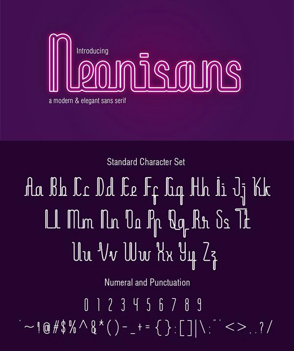 Neonisans Monoline Font