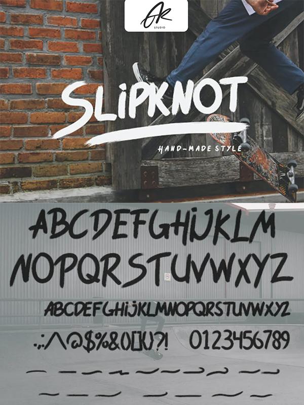 Slipknot Handmade Style Font