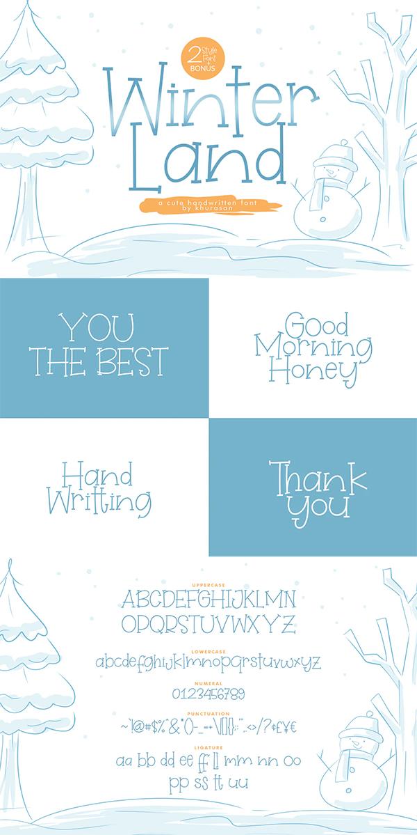 WinterLand Handwritten Font