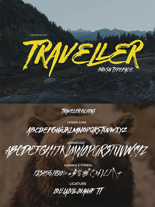 Traveller Brush Font