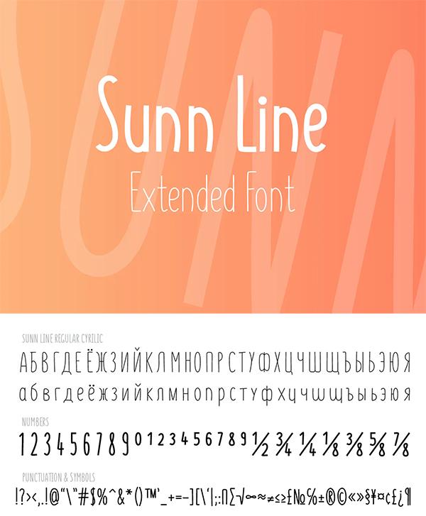 Line Extended Font