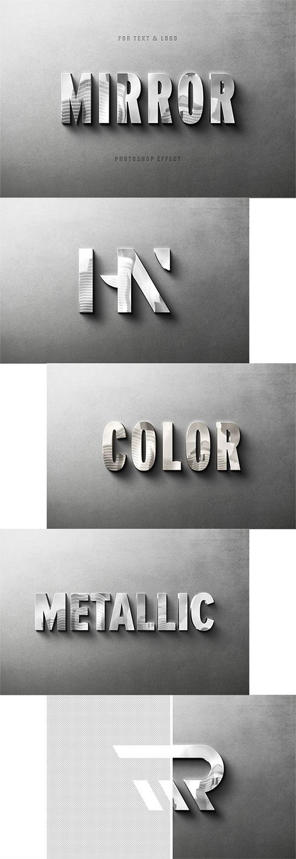 Free Awesome Metallic Photoshop Text Effect (Logo Mockup)