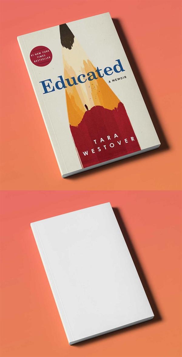Free Simple Creative Book Cover Mockup (PSD)