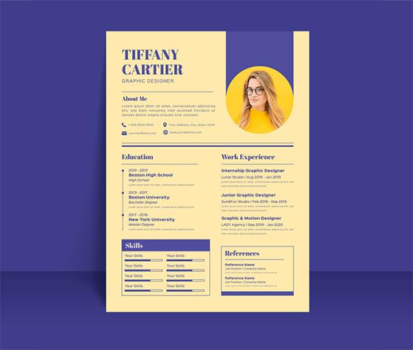 Free Vintage Resume Template