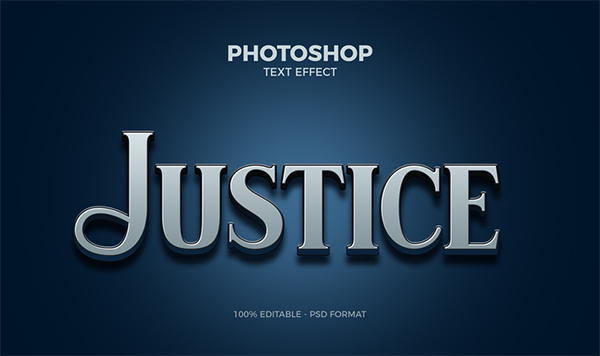 Free Justice Photoshop Text Effect