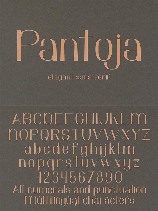 Pantoja Sans Serif Font