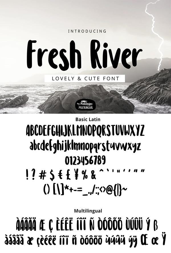 Fresh River Font
