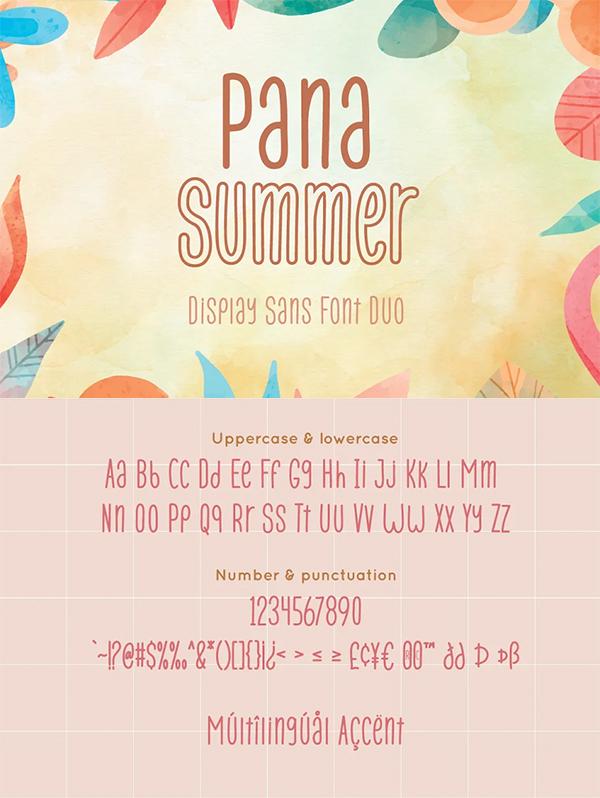 Pana Summer Display Sans Font