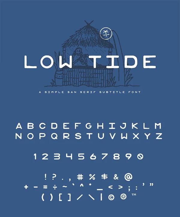 Simple San Serif Font