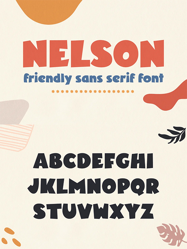 Nelson Friendly Sans Serif Font