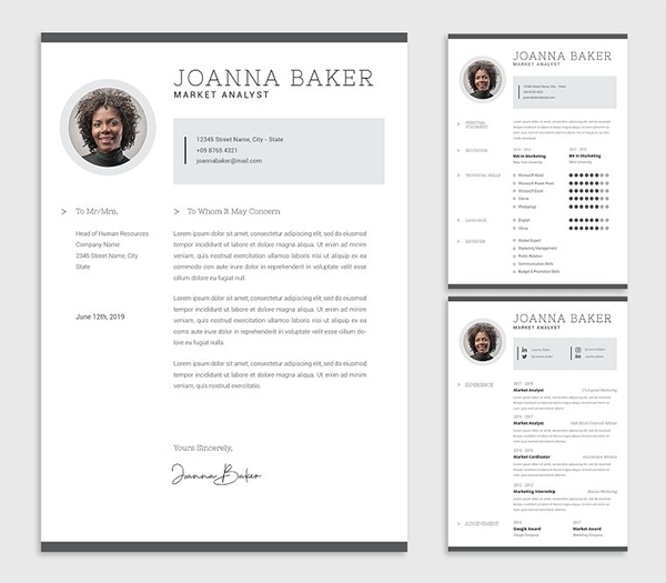 Joanna Market Resume Designer