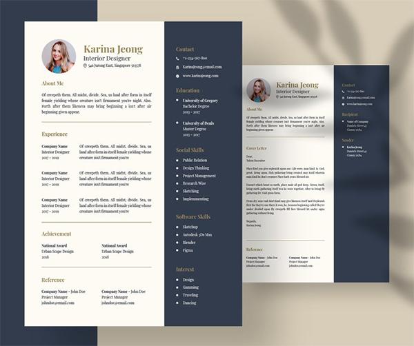Stylish CV Resume Template