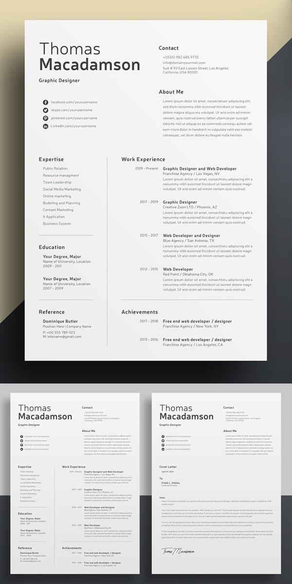 Clean Resume Word Template