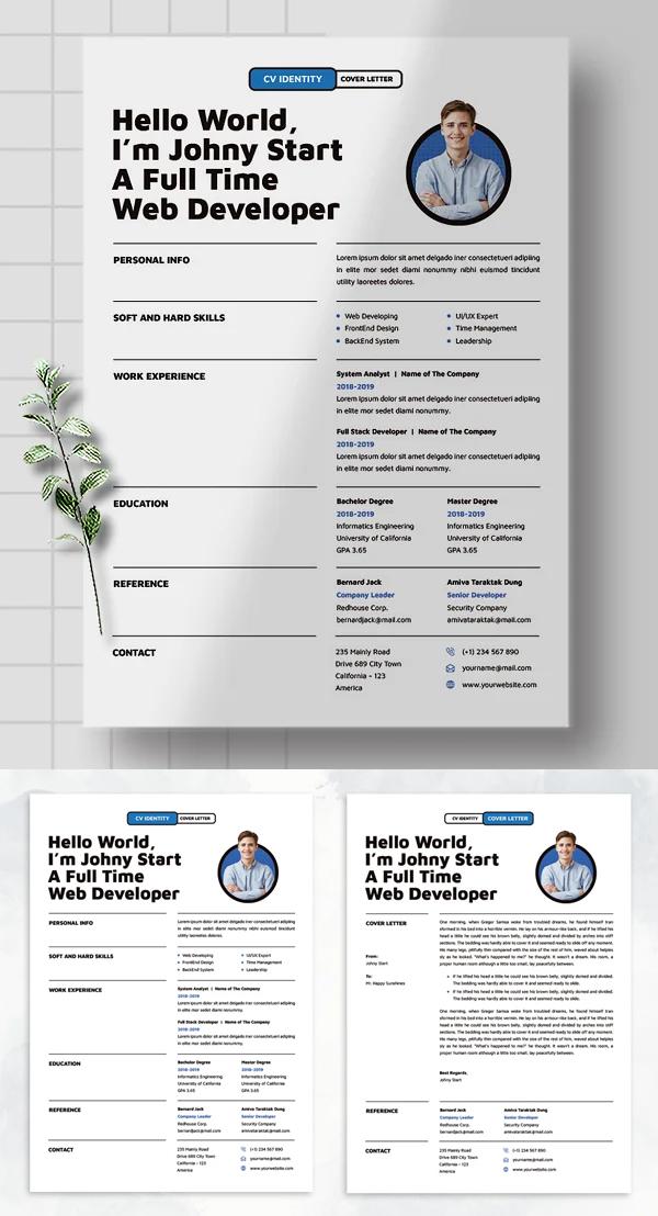 Simple Clean CV Resume Template