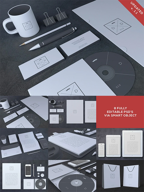 Blank Stationery Branding MockUp
