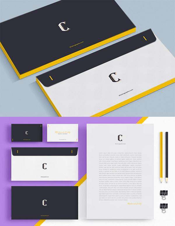 Minimal Stationery Branding Mockup