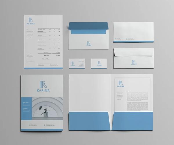 Karina Corporate Identity Stationery