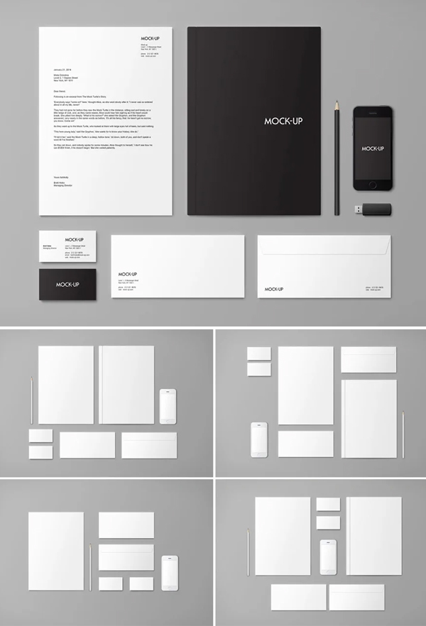 Simple Clean Stationery & Branding Mock-up