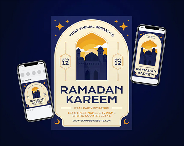 Awesome Ramadan Flyer Set