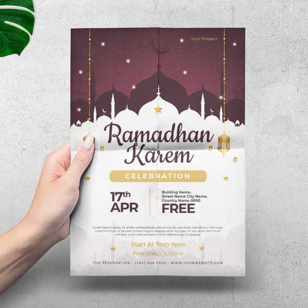 Best Awesome Flyer Ramadan Kareem