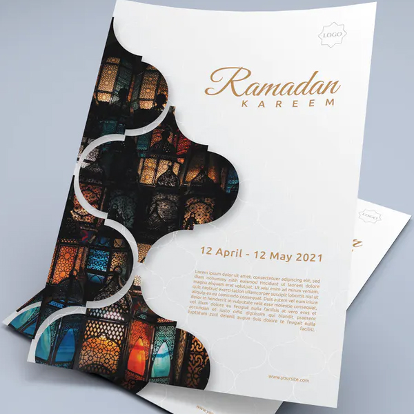 Simple Ramadan Mubarak Flyer Design