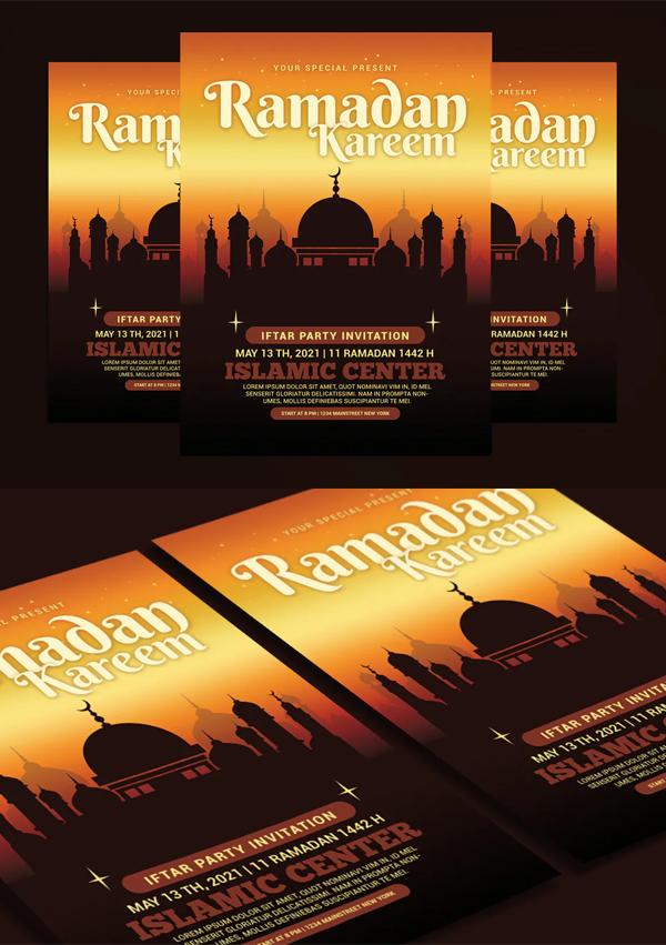 Elegant Ramadan Kareem Flyer