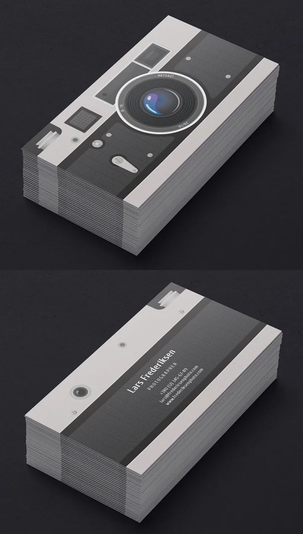 Elegant Photographer Business Card Template