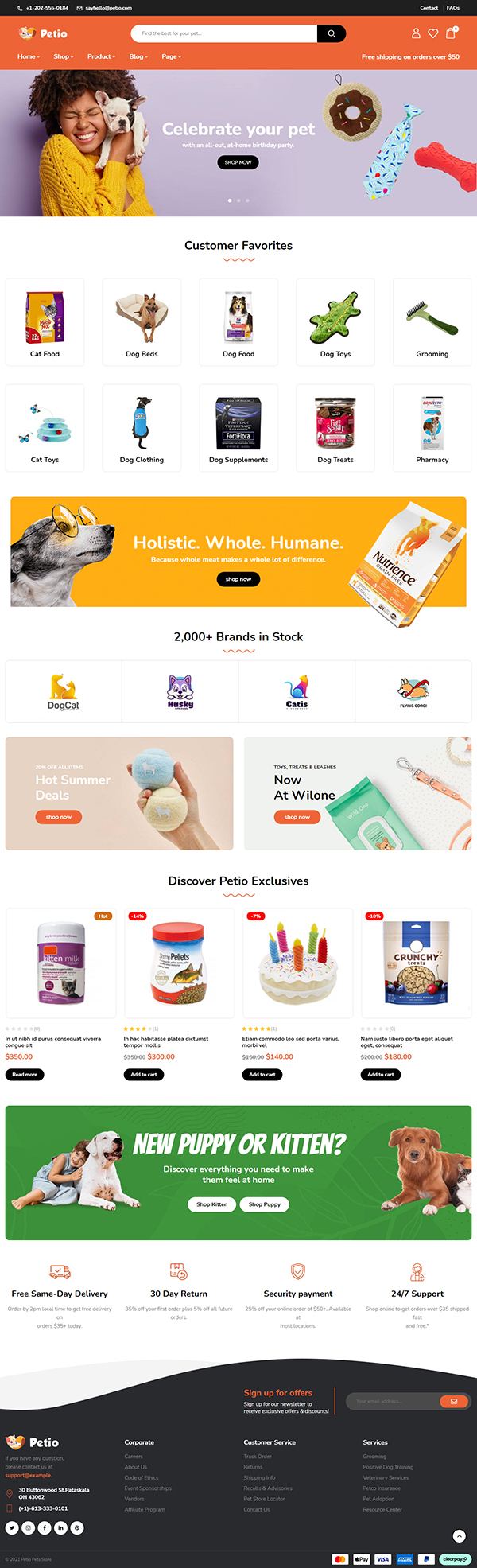 Petio – Pet Store WooCommerce WordPress Theme