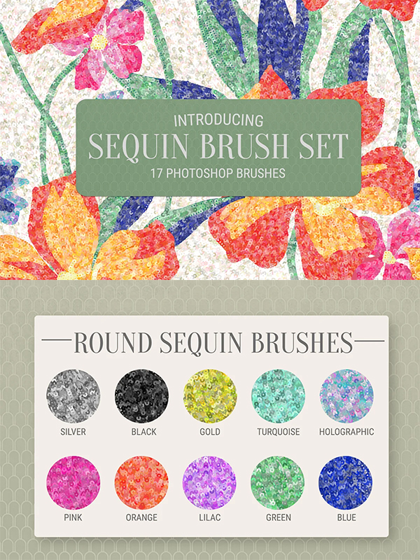 Sequin Brush set for Photoshop