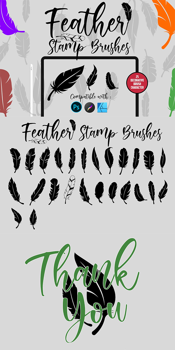 Feather Stamp Brushes