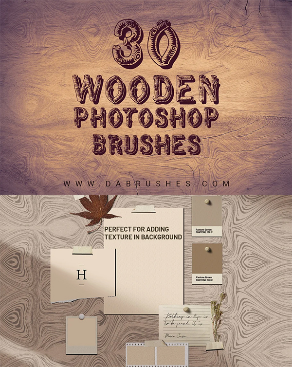 Wooden Texture Brushes Photoshop