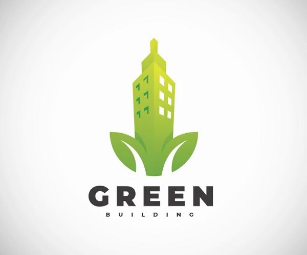 Green Building Logo Design