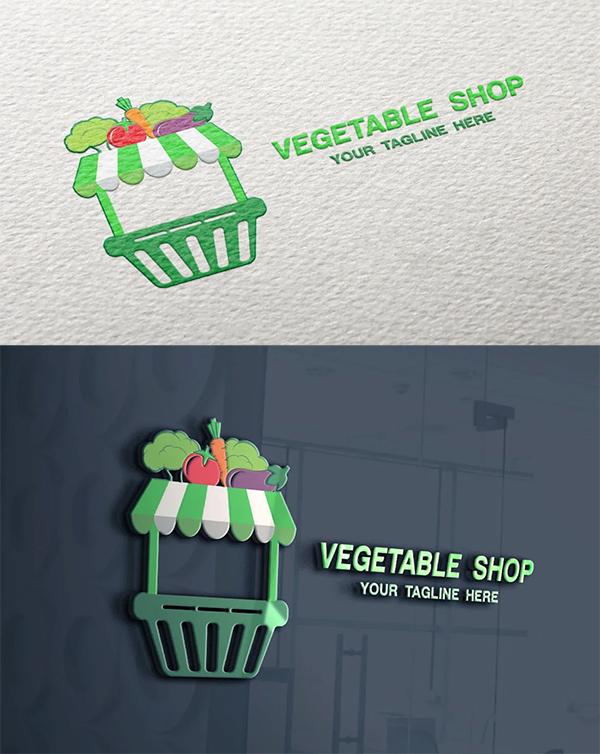 Vegetable Shop Logo Template
