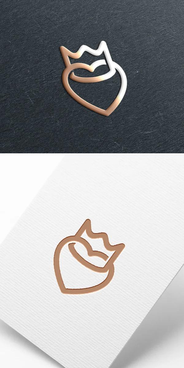 Heart Love Logo Template