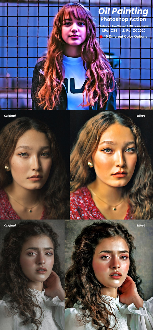 Best Oil Painting Photoshop Action