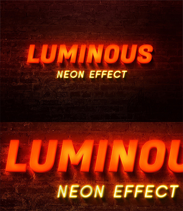 Free Attractive Glowing Neon Text Effect