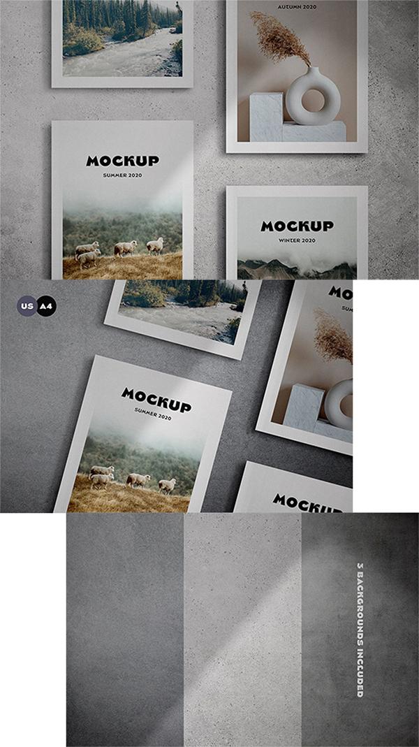 Free Creative Magazine Cover Mockup