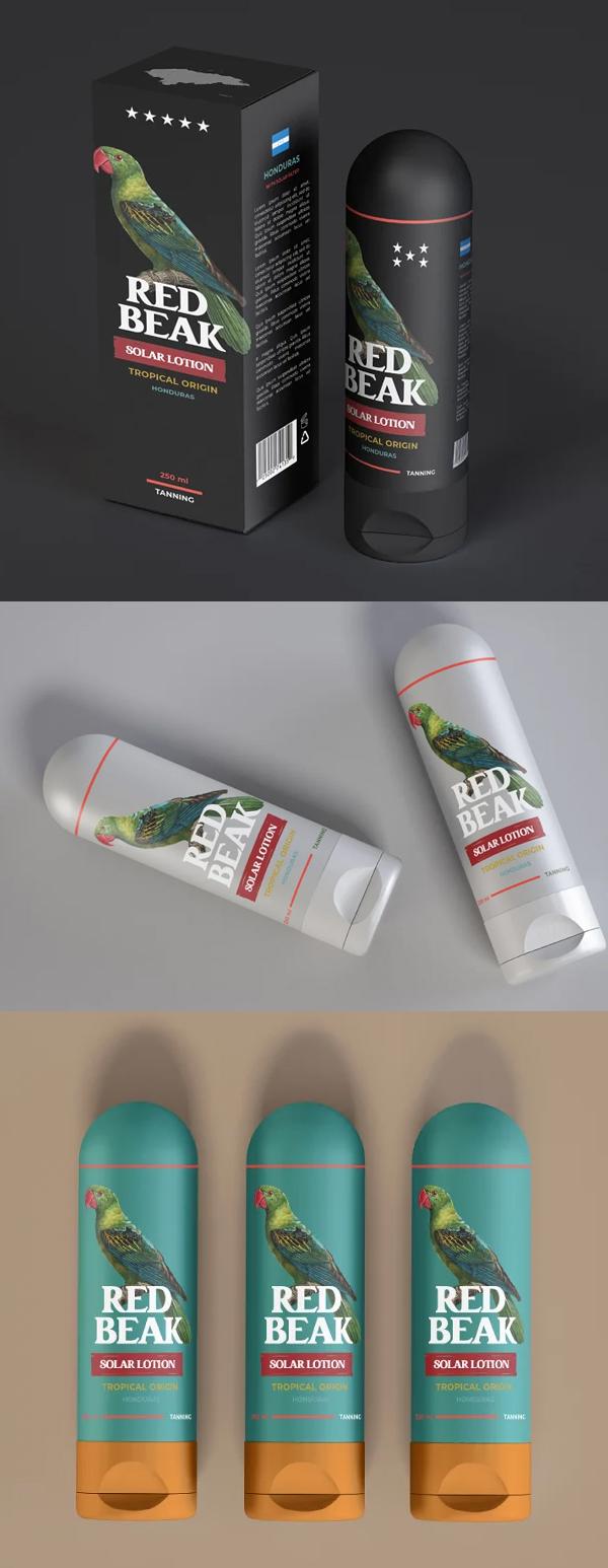 Cylindrical Cream Tube Mockup