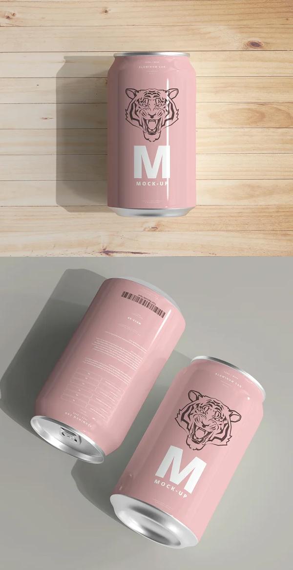 Medium Size Can Mockup