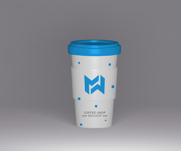 Free Download Coffee Cup Packaging Mockup