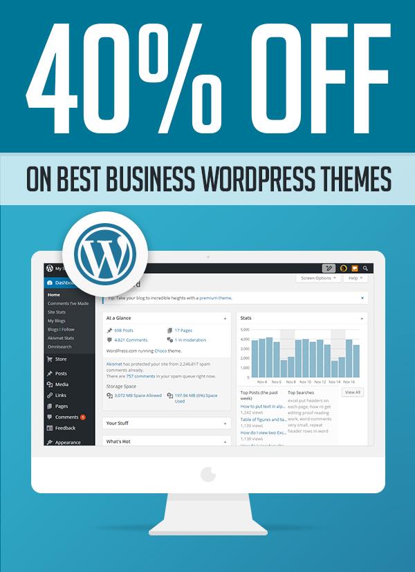 Business WordPress Themes 40% OFF